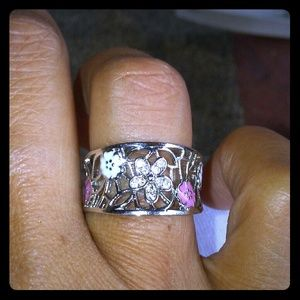 Flower Blossom Pandora ring